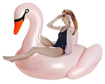 MALATEC Hinchable Cisne Aire Colchón Color Rosa Natación ...