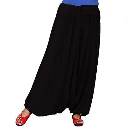 Andux Zone Casual 100% algodón Baggy Aladin Hippy Yoga Pantalones Harem para Hombres y Mujeres SS-DDK-01