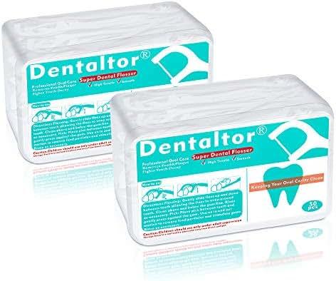 Dental Floss Picks Disposable For Proper Oral Care 2-Pack, 100 Count
