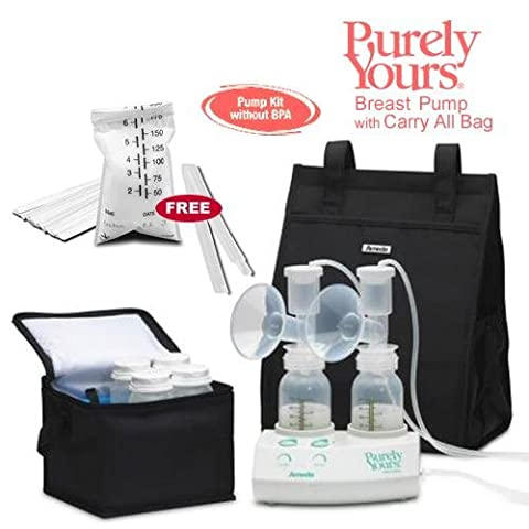 Ameda 17077-KIT5 Purely Yours Breast Pump 2009 with Carry All Bag and Breastfeeding Made Simple Book Combo - 17077 Kit