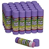Chenille Kraft Creativity Street Large Glue Sticks, 30-Pack, Purple, .70-Ounce