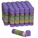 Chenille Kraft Creativity Street Large Glue Sticks, 30-Pack, Purple, .70-Ounce