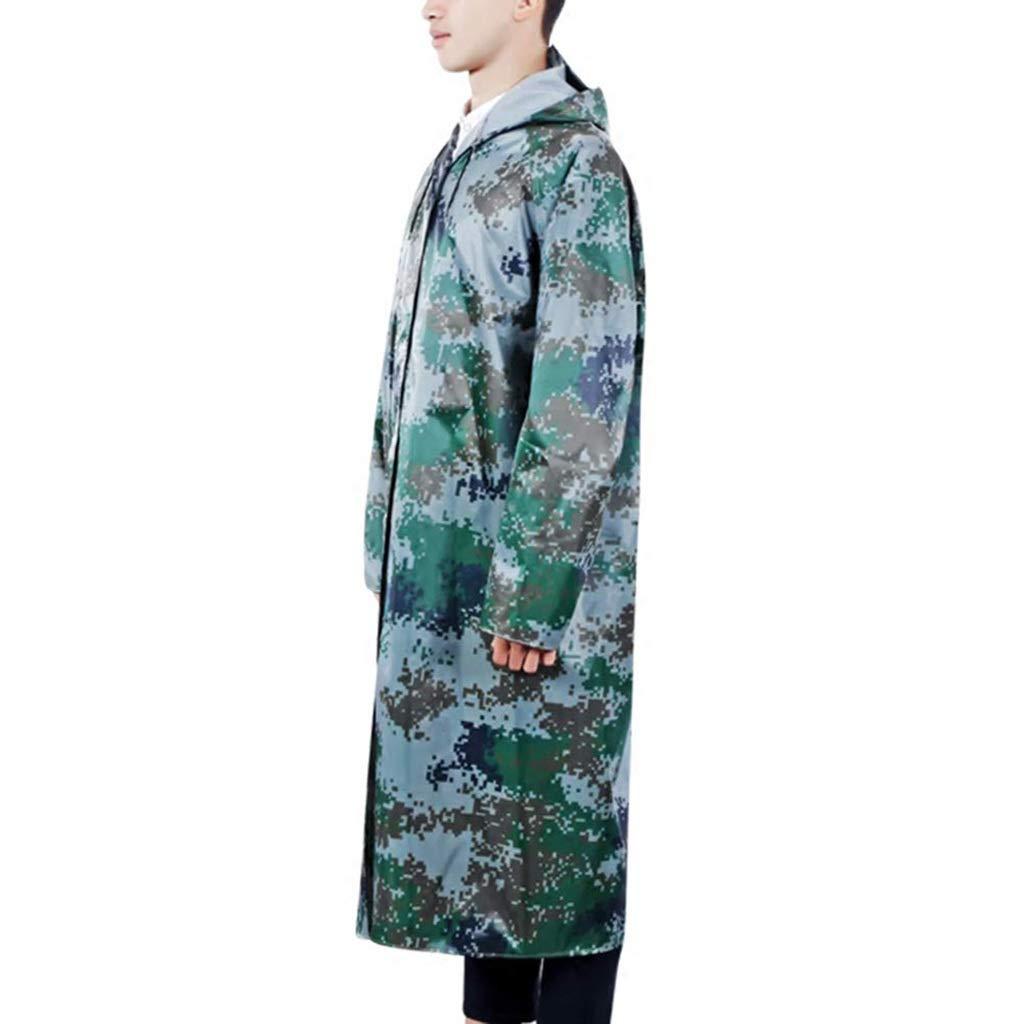 XXXL TzJz Veste De Pluie Imperméable Poncho Sceau De Pluie Long Camouflage Conjoint Adulte épaississeHommest en Plein Air Assurance Travail Duty Imperméable (Taille   XXL)