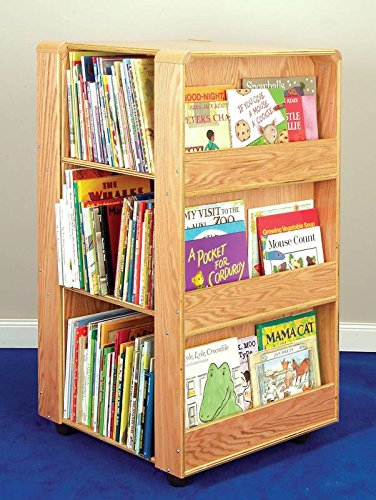 Four Sided Library - Korners for Kids 204975 4-Sided Library Unit, Oak, 6 Shelves, 43-1/4
