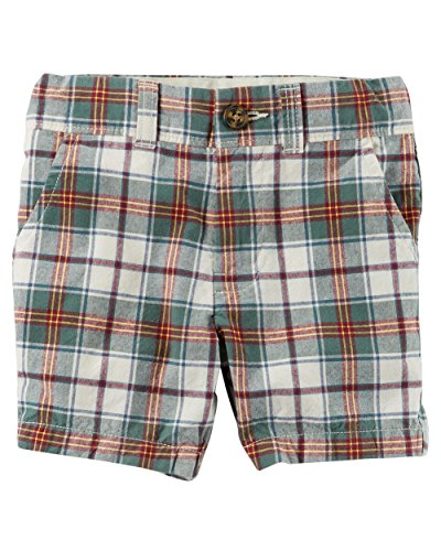 Carter's Baby Boys' Madras Flat-Front Shorts, 6 Months