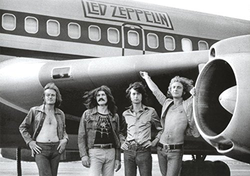 Laminated Led Zeppelin Airplane Poster 34 x 24in