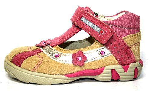 Juge-chaussures filles chaussures ouvertes, 32.0207.1051–multicolore (beige/mauve/20 eU berr