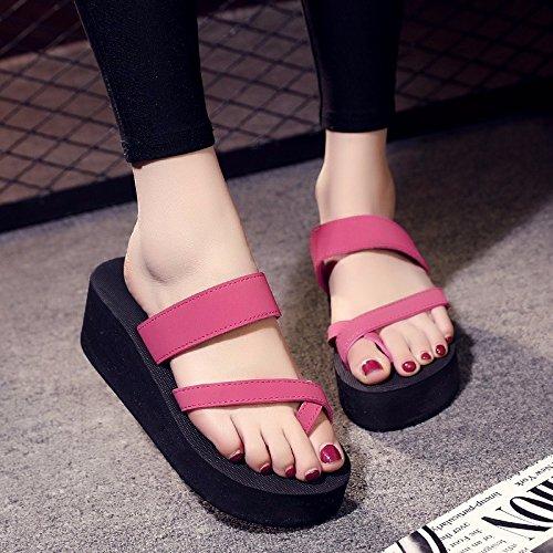 Señoras verano zapatos, High Heels sandalias de moda zapatos y zapatillas. Rosa.