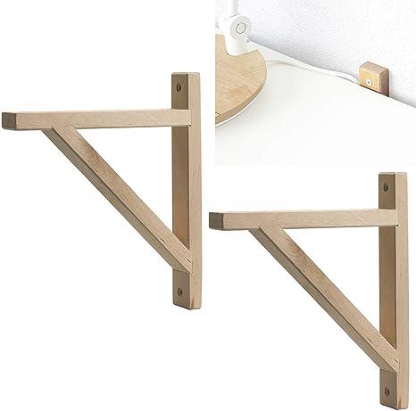 Details about  /1 Pair Triangular Bracket Rustproof Home Decor Hardware Wall Shelf Bookshelf