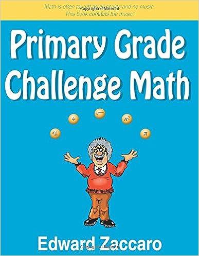Primary Grade Challenge Math: Edward Zaccaro: 9780967991535: Amazon ...