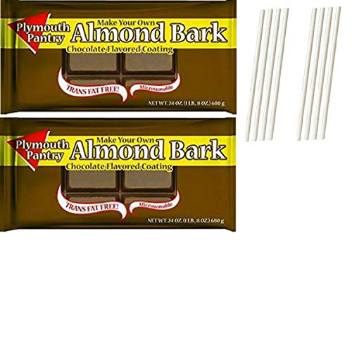 Chocolate Bark Coating - Plymouth Pantry Almond Bark Dark Chocolate Wafers. Easy One Stop Shopping for the Best Dipping Milk Chocolate. Tempered Chocolate Candy Melts For Fondue or Microwave. Also includes 8 Dipping Sticks.