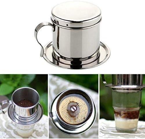 ZHDWM Cafetera de filtro de acero inoxidable cafetera de goteo ...