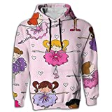 Paskcc Men's Hoodie Novelty Tops Shirt Coat Digital Print Ballet Dance Girl Jogger