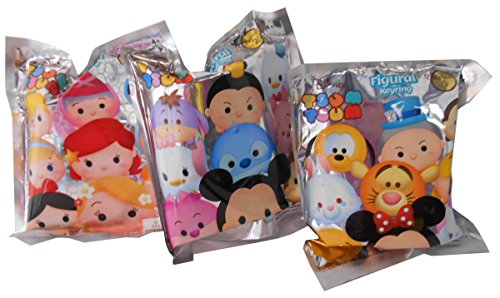 Price comparison product image Disney Tsum Tsum Series 1, 2 and 3 3D Blind Bag Keyring Bundle