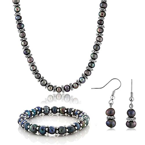 Cultured Freshwater Necklace Bracelet Earrings product image