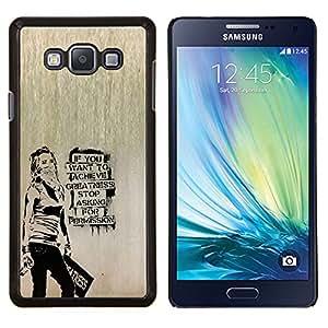 LECELL--Funda protectora / Cubierta / Piel For Samsung Galaxy A7 A7000 -- Banksy Graffity --