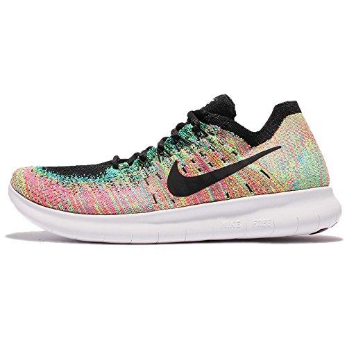 Eu Libre 38 Nike Flyknit Rn 2017 Course Piste Multicolore De Chaussures PwxzH