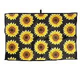 RUNNING BEAN Sunflower Golf Towel Fashion Sports Towel Player Towel