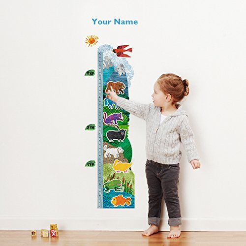 Brown BearTM Personalized Growth Chart Wall Decal for Nursery, Kids Room Oliver' s Labels