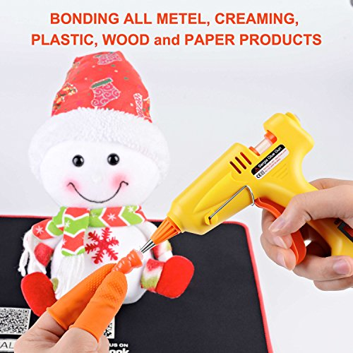 Hot Glue Gun Kit with 20 Pcs Glue Sticks, Mouse Pad, Anti-Hot Cover,Portable case for DIY Small Projects, Craft and Arts & Home Or School Quick Repair Sealing Use, Christmas Decoration/Gift (20 Watt) by SERGIA (Image #4)