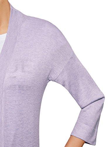 avec Violet sans et Poches Cardigan 8000m Femme oodji Collection Fermeture 8nRgBq6t