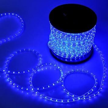 Amazon blue christmas lighting led rope light 150ft i 1620 led blue christmas lighting led rope light 150ft i 1620 led bulbs rope light 150 ft aloadofball Image collections