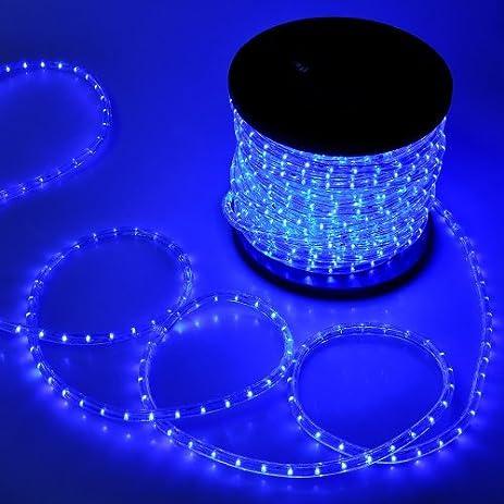Blue Christmas Lighting LED Rope Light 150ft I 1620 LED Bulbs Rope Light  150u0027 Ft