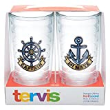 captain america glass cup - Tervis Captain First Mate Emblem Bottle, 16-Ounce, Pack of 2, On The Water