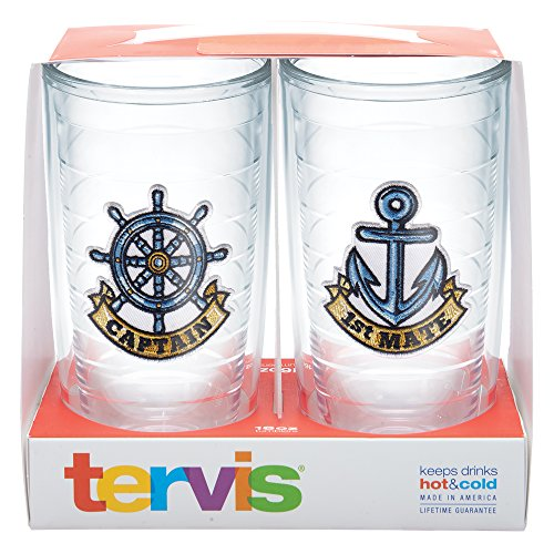 Tervis Captain First Mate Emblem Bottle, 16-Ounce, Pack of 2, On The (Captain Bottle)
