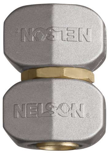 Nelson 855224-1001 Brass/Metal Industrial Hose Repair Mender Clamp 5/8-Inch and 3/4-Inch
