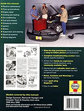Amazon com haynes dodge caravan, plymouth voyager and chrysler town 1998 voyager wiring diagram amazon com haynes dodge caravan, plymouth voyager and chrysler town and country mini vans (96 02) manual (30011) l alan and haynes, john h ledoux