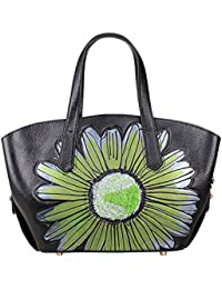 Designer Floral Purse Womens Leather Tote Top Handle Handbags