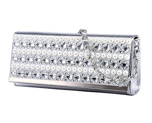 Dearesty - Bolso al hombro para mujer Silver (style-2) Silver (style-1)