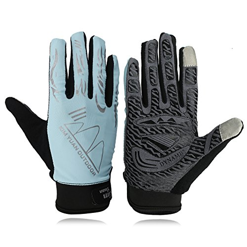 KIM YUAN Touch Screen Sun Protection Cycling Gloves, for Mountain Biking, Running, Hiking, General Using, Suits Men & Women