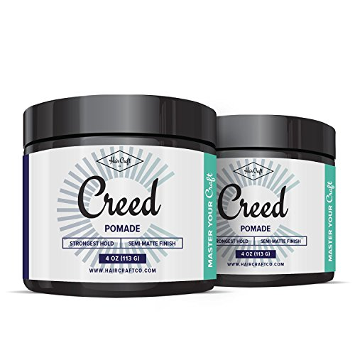 CREED 2-Pack - Premium Semi-Matte Finish Pomade 4oz For Men & Women - Strongest Firm Hold - Best Hair Styling Product, Barber (Movember Cause)