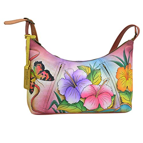 Anuschka 450 Shoulder Bag,Hawaiian Hibiscus,One (Anuschka Purse)