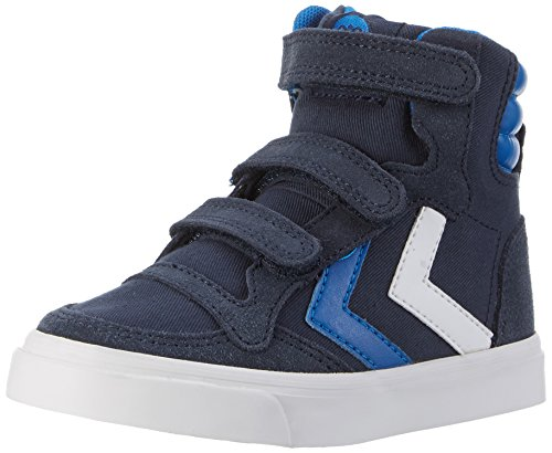 Hummel Unisex-Kinder Stadil Canvas High-Top Blau (Total Eclipse)