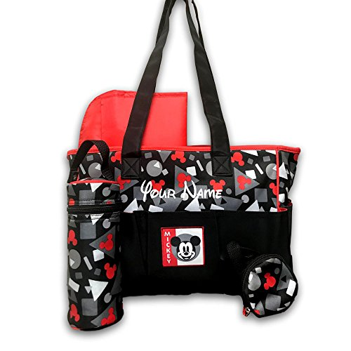 Personalized Disney Mickey Mouse Red and Black with Shapes P