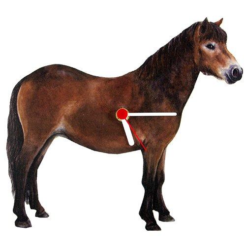 Intrepid International Exmoor Pony-Shaped Clock