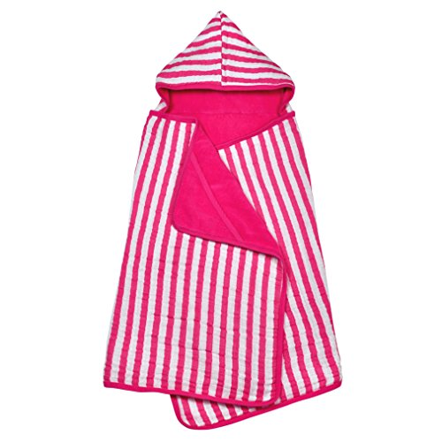 green sprouts Muslin Hooded Towel made from Organic Cotton | The perfect towel for bath, beach, or pool | Organic cotton muslin & knitted terry, Hand pockets help toddler dry ()
