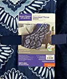 Better Homes and Gardens Throw Blanket 50 Inch X 70 inch - Blue Diamonds