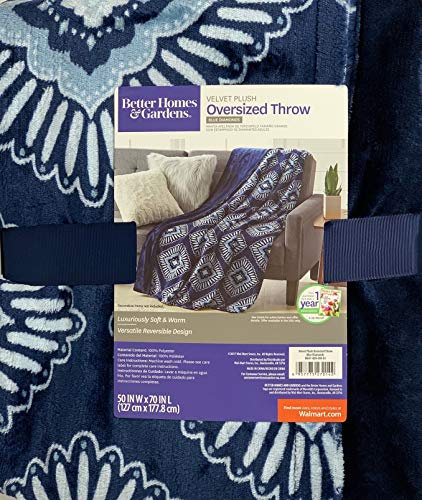 Better Homes and Gardens Throw Blanket 50 Inch X 70 inch - Blue Diamonds from Better Homes & Gardens