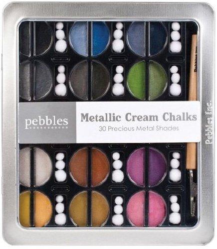 I Kan'Dee Chalk Set-Metallics - Chalk Pebbles