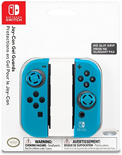 Nintendo Switch Comfort Grip Joy Con Blue Gel Guards by PDP