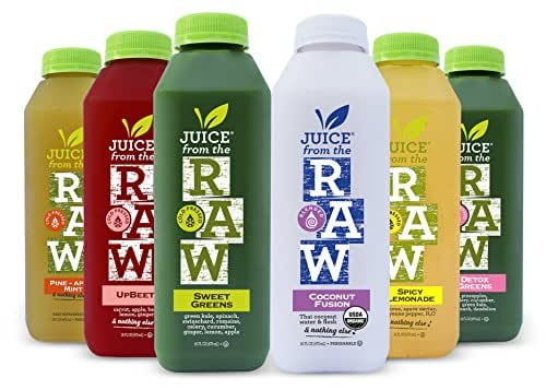 Juice From the Raw 3 Day ORGANIC Juice Cleanse - Whenever Cleanse - 18 Bottles