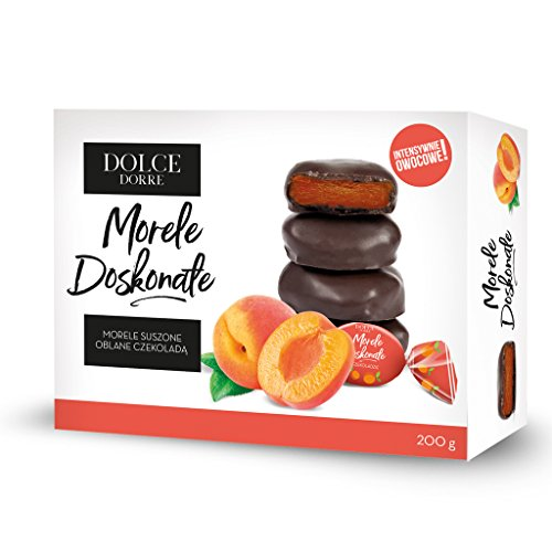 Dolce Dorre Dried Apricots in Chocolate 200g/7.05oz (3 pack)