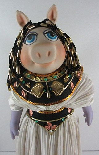 Vintage 1983 Enesco The Muppets Miss Piggy Cleopigtra (Cleopatra) Porcelain Doll, 15