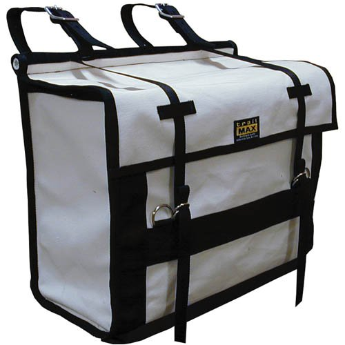 Canvas Pack Panniers Bags, Sold in A Pair, 24 Ounce Treated Canvas, for Use with A Pack Saddle, Ideal for Horse and Mule Packing - Traditional Look Without Compromising Durability and Versatility