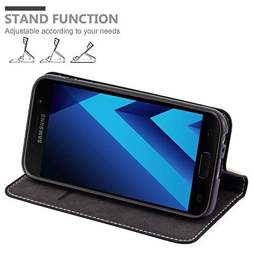 Cadorabo - Funda Estilo Book para >                                      Samsung Galaxy A3 (7) - Modelo 2017                                      < de Diseño gamuza-Artificial / Cuero-Artificial con Tarjetero, Función de Soporte y Cierre Magnético Invisible