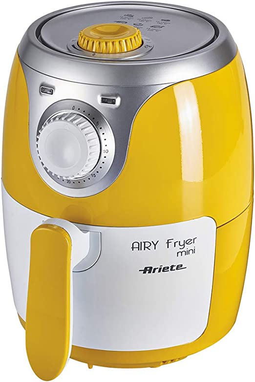 Ariete 4615 - Mini freidora saludable Airy, sin aceite, temporizador,1000 W, amarillo y blanco: Amazon.es: Hogar